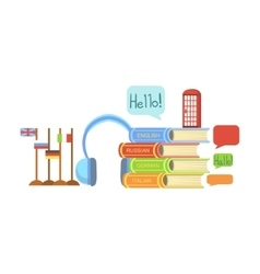 Foreign Languages Class Set Of Objects vector image vector image