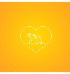 Heart design vector image vector image