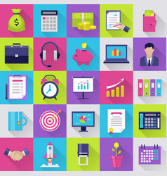 icons set for internet marketing vector image