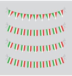 Italian bunting vector