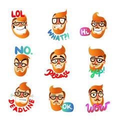 Man emotions set vector