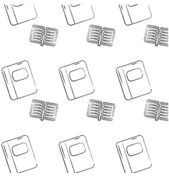 Notebook school supplies pattern image vector