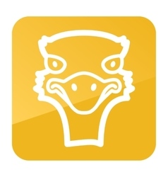 Ostrich icon animal head vector