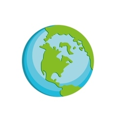 Planet earth world icon graphic vector