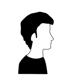 profile silhouette person icon design vector image