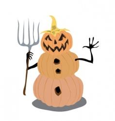 pumpkin man vector image