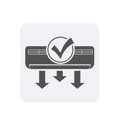 Quality control at home icon with conditioner sign vector