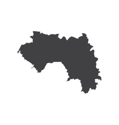 Republic of Guinea map silhouette vector image