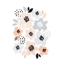 Romantic pale color floral vector