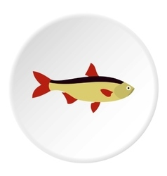 Salmon fish icon flat style vector image vector image