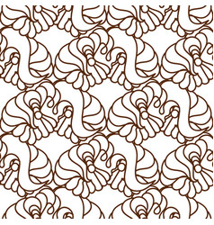 seamless abstract pattern in black and whi vector image vector image