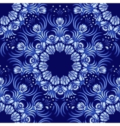 Seamless background Floral pattern of circular vector image vector image