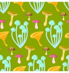 Spring forest chanterelle and grebes mushroom vector