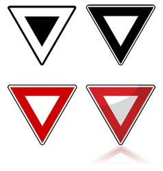 Yield sign vector image vector image