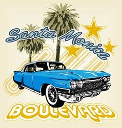 Santa Monica boulevard vector image