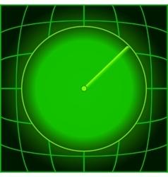 Design green search radar vector image