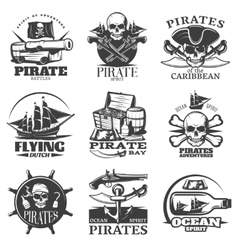 Pirates emblem set vector