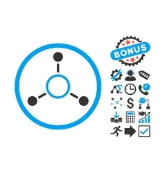 Radial structure flat icon with bonus vector