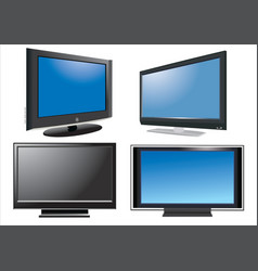 led TV vector image