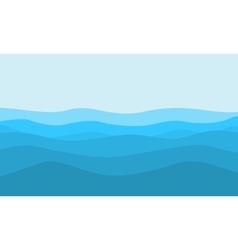Flat of hill on blue background landscape vector
