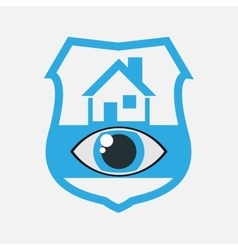 home security eye surveillance vector image