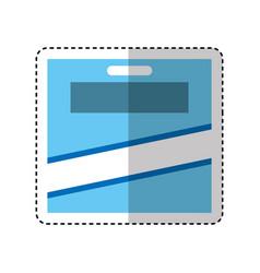 pencils colors box icon vector image