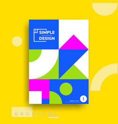 Colorful flat geometric covers design vector