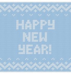 Card of happy new year 2015 with knitted texture vector