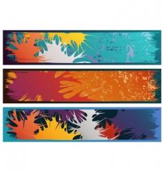 splash banners vector image