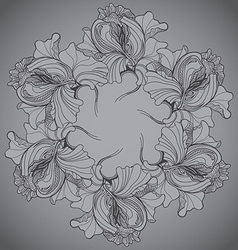 Background with ornament of the grayscale graphic vector