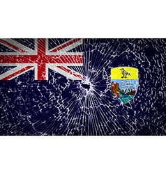 Flags saint helena with broken glass texture vector