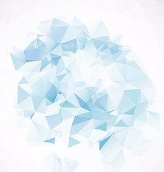 3d blue design element vector image