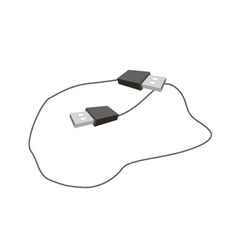 Black usb plugs on a white background vector