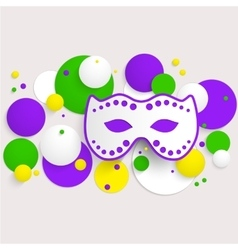 Mardi gras party poster design template of poster vector