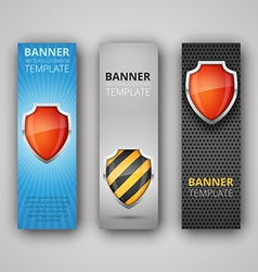 A set of modern banners vector image