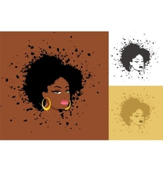 Afro vector image vector image