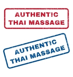 Authentic Thai Massage Rubber Stamps vector image