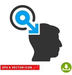 Brain interface plug-in eps icon vector