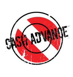 Cash advance rubber stamp vector