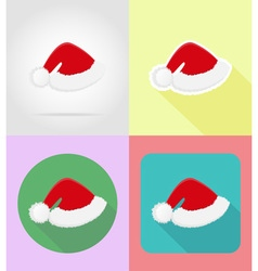 christmas and new year flat icons 13 vector image vector image