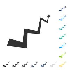 Curve arrow icon vector