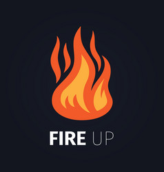 Fire up logo template vector