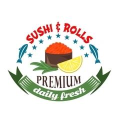 Gunkan maki sushi icon for restaurant menu design vector