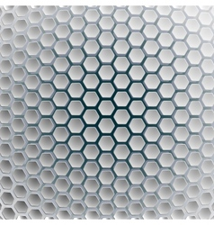 Hexagons on a white blue background vector image vector image