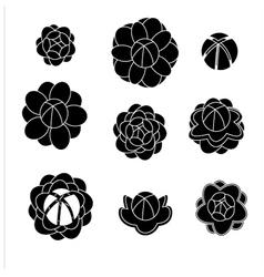 Jasmine silhouettes shaps2 vector image