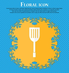 Kitchen appliances icon sign floral flat design on vector