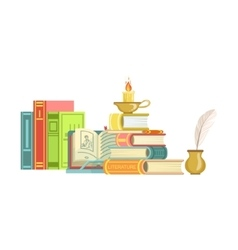 Literature class set of objects vector