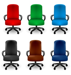 Office Armchairs vector image