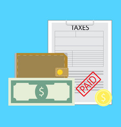 pay tax concept vector image