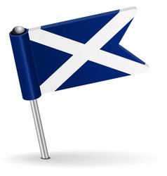 Scottish pin icon flag vector